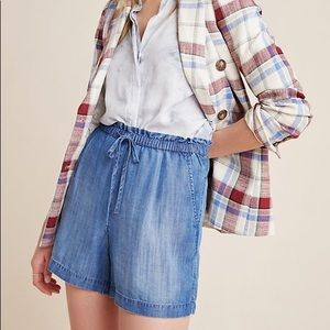 Anthropologie Cloth & Stone Denim Waist Shorts